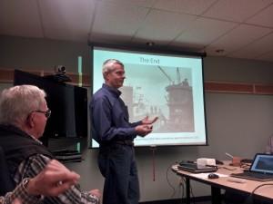 Jerry presenting