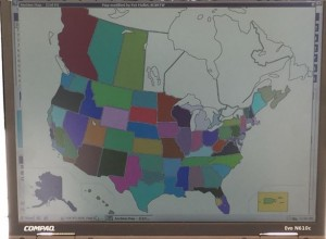 States and Provinces contacted