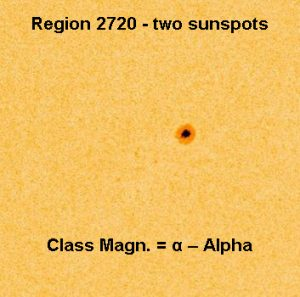 sunspot with magnetic classification
